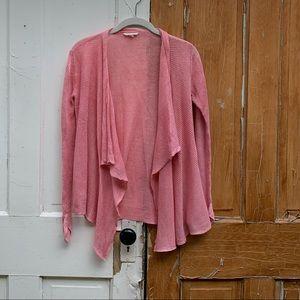 Eileen Fisher pink linen cardigan Petite Small